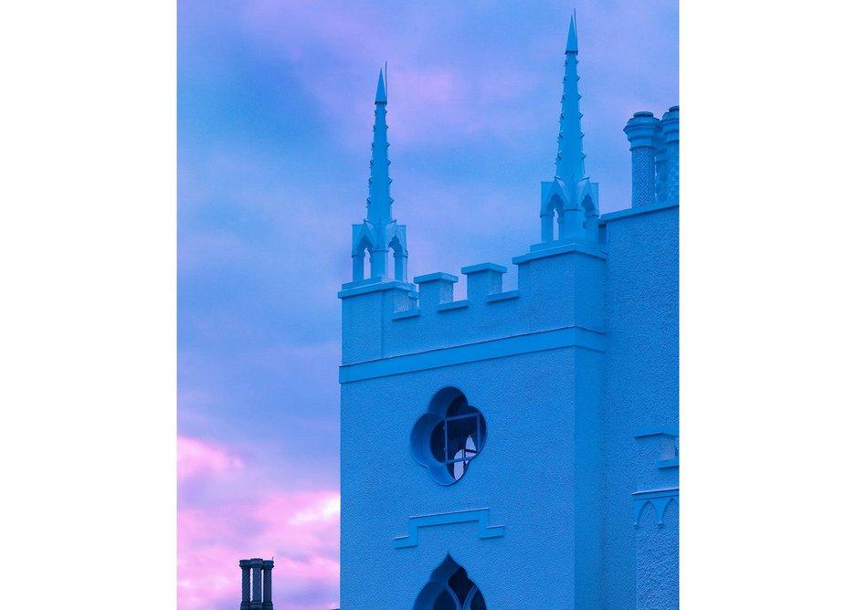 Strawberry Hill at twilight.