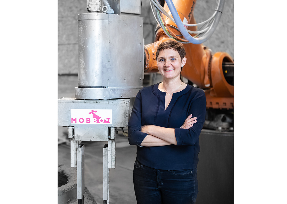 Entrepreneur Agnès Petit wants Mobbot to become 'the Tesla of the construction industry'.