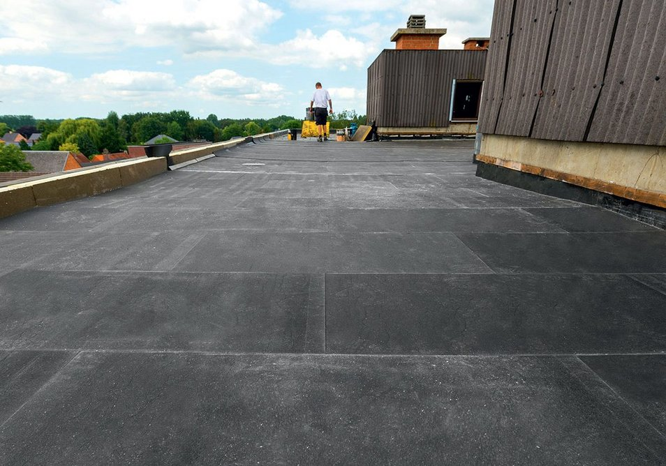 Single-layer systems are pre-bonded so they can be adhered to the roof in one block.