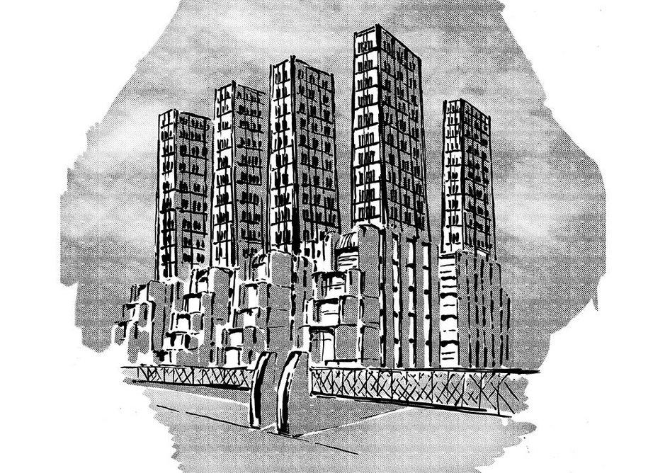 Futurism III – Chiattone by Piotr Sell. Italian futurists Mario Chiattone and Antonio Sant'Elia produced seminar utopian visions in early 20th century Italy.
