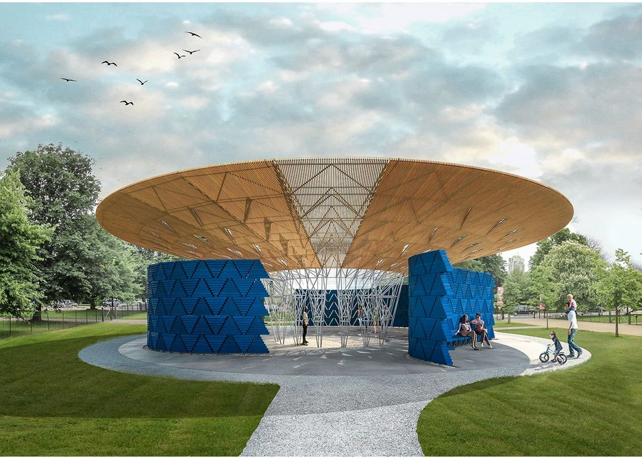 2017's Serpentine Pavilion is designed by Kéré Architecture and is due to open on 20 June.