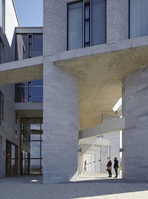 Grafton Architects' Medical School building and student accommodation at the University of Limerick, Ireland, 2012.