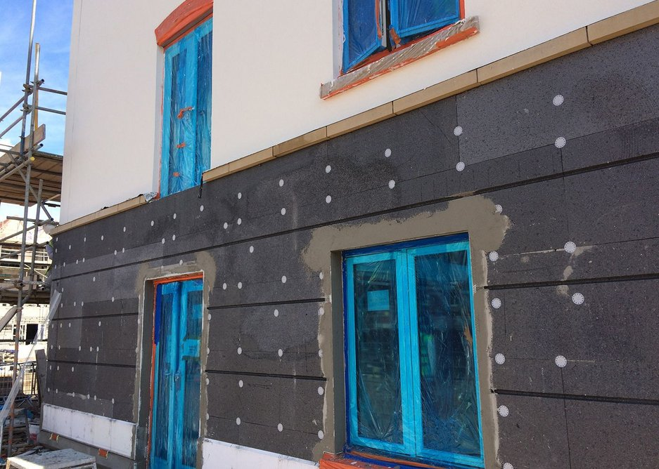 GEPS panels used with ashlar style cuts on a retirement village complex.