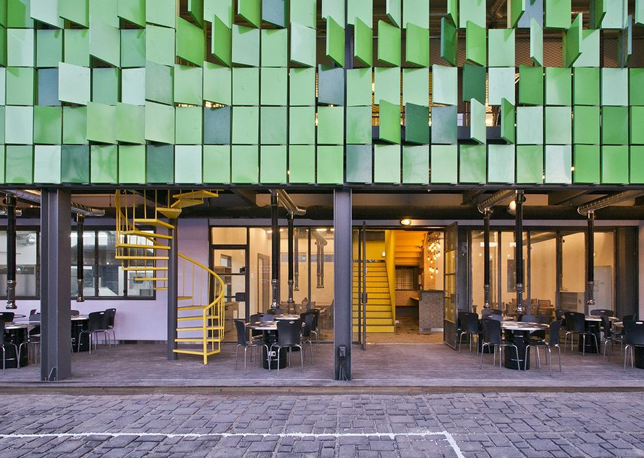 Facade as signboard: sausage soup restaurant Foresthouse by JYA-rchitects.