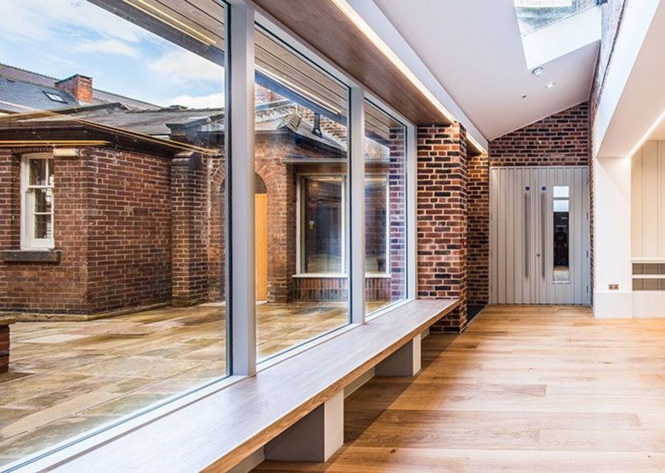 The Hollis Building in Sheffield contains social spaces for the congregation. Chiles Evans and Care architects, RIBA regional award and small project of the year 2019. Credit Dug Wilders