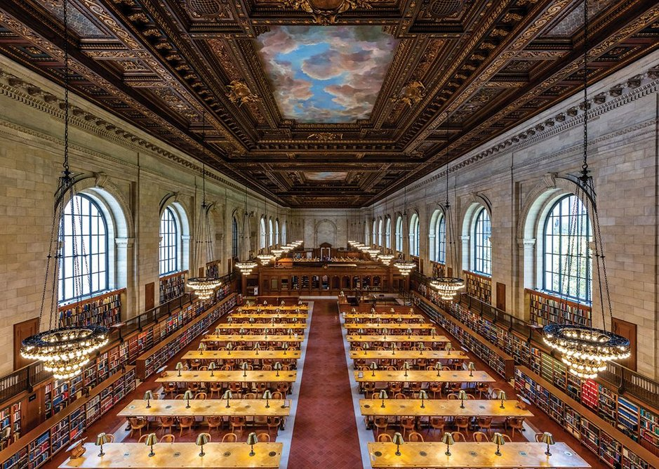 New York Public Library, Carrere and Hastings. The Rose Main Reading Room (1897-1911).