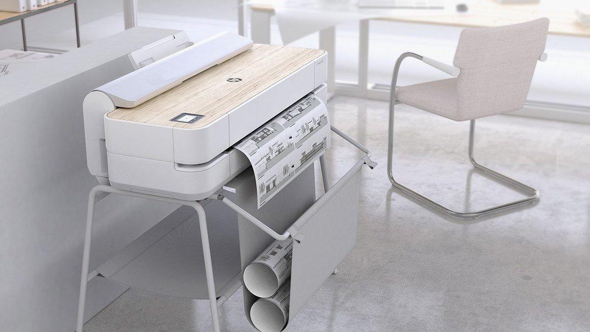 The HP DesignJet Studio Printer Series: Compact enough for homeworking too.