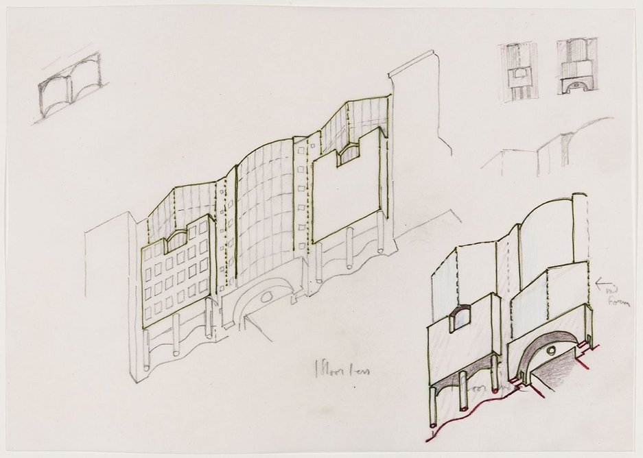 Number One Poultry facade design studies, Courtesy of Laurence Bain