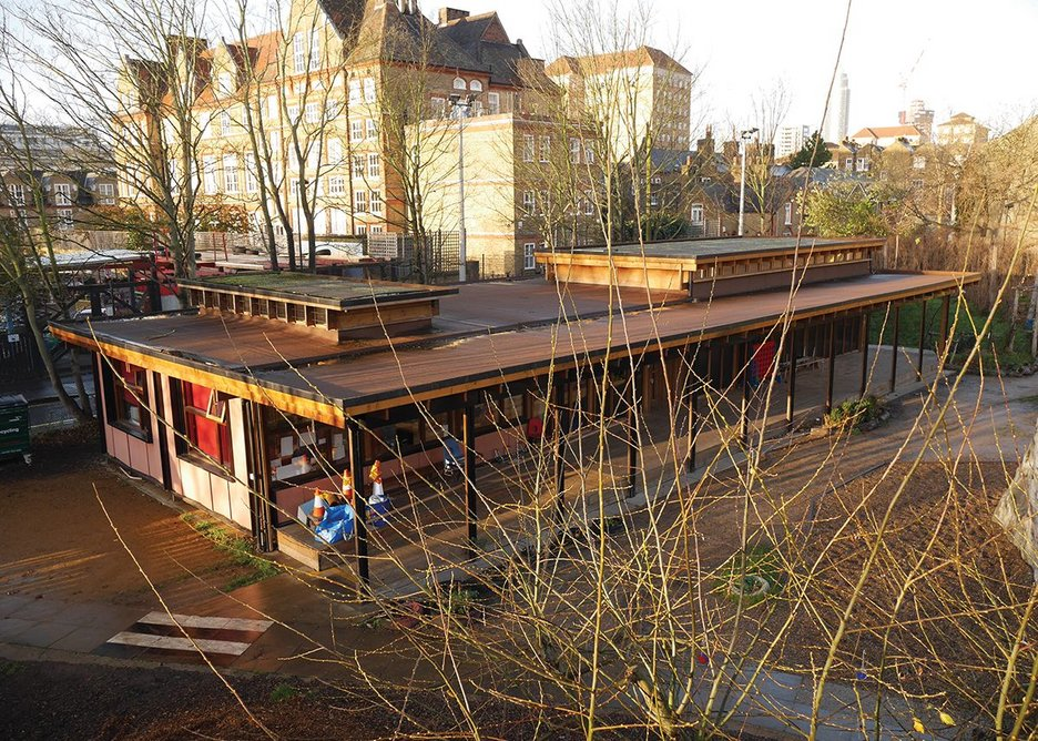 The upcycled building as it appears in its Stockwell context today.
