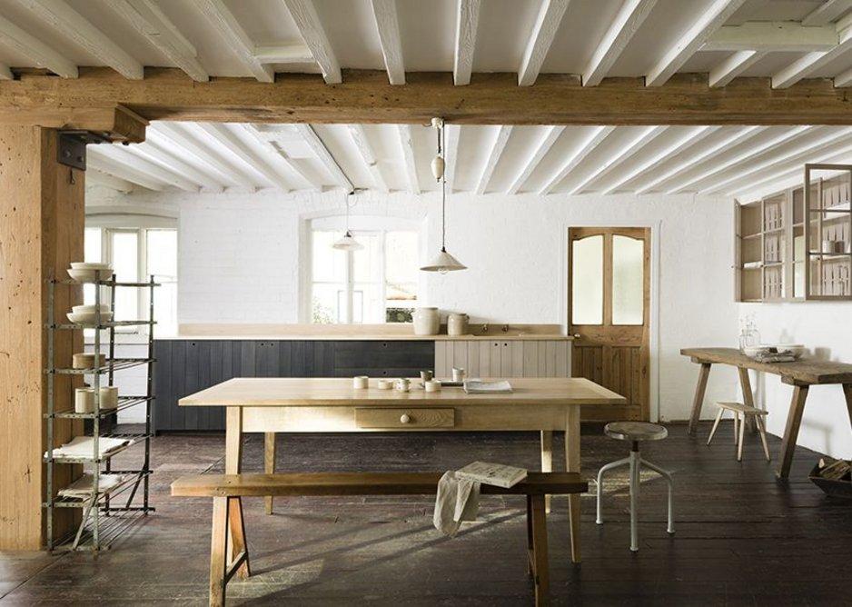 Production made - Sebastian Cox kitchen by DeVOL and Sebastian Cox. English Beech, English Ash and Birch ply. Maker DeVOL.