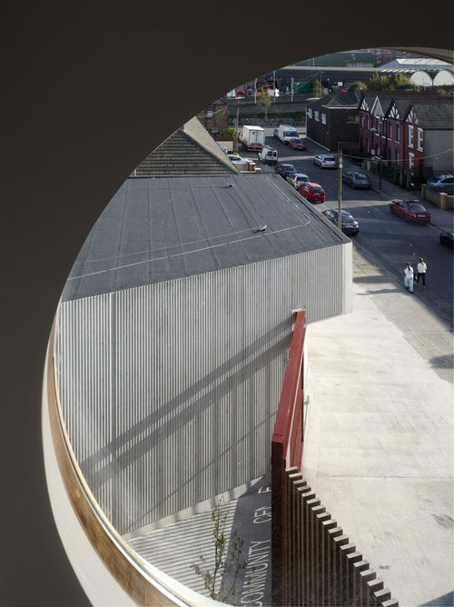 Sean O'Casey Community Centre, Dublin, designed by O'Donnell & Tuomey, 2008.