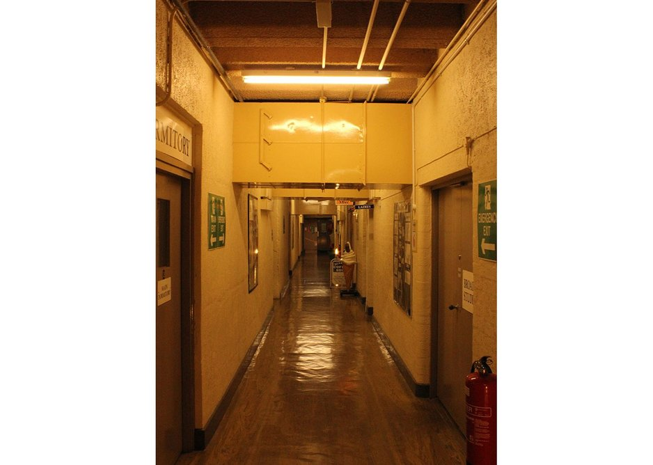 Typical circulation corridor at Scotland's Secret Bunker, Troywood, Fife.