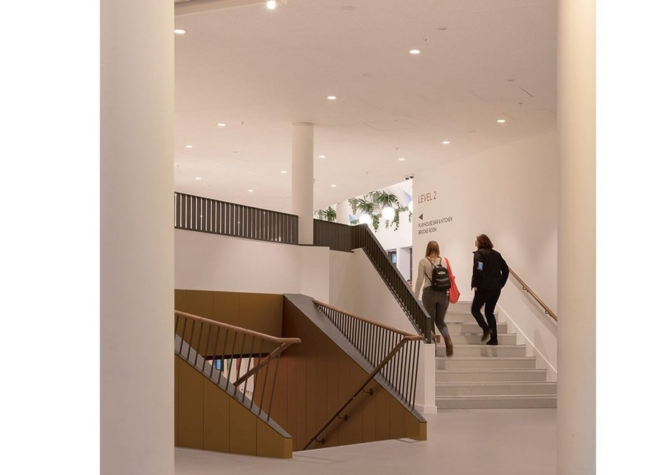Rationalising circulation has brought the auditoria, entrance and cafés together.