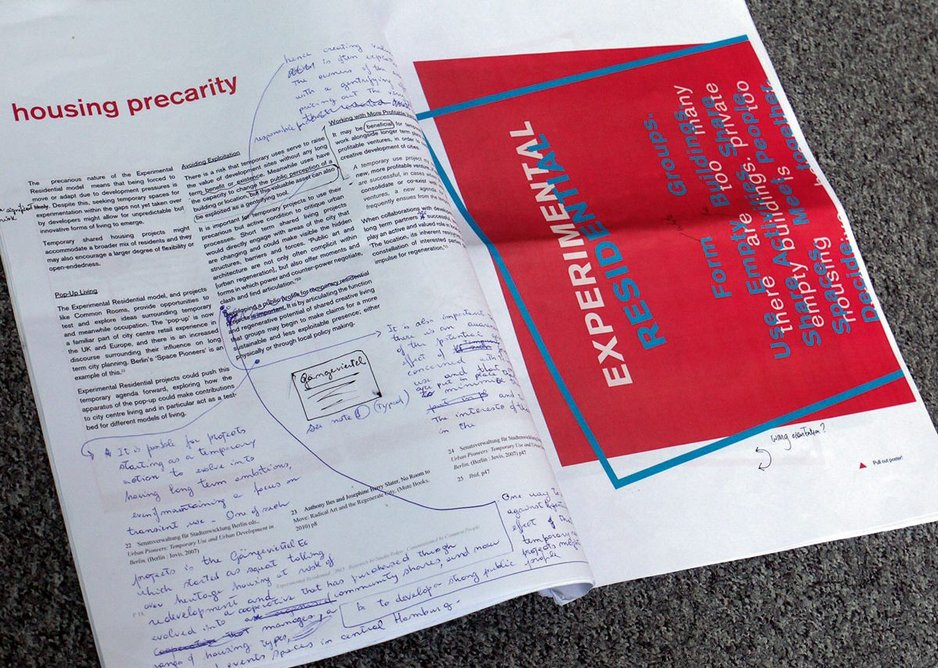 Disseminating lessons from research, the newspaper of Experimental Residential takes shape.