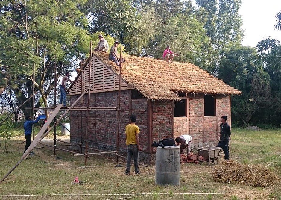 Housing for 2015 Nepal earthquake victims by architect Shigeru Ban.