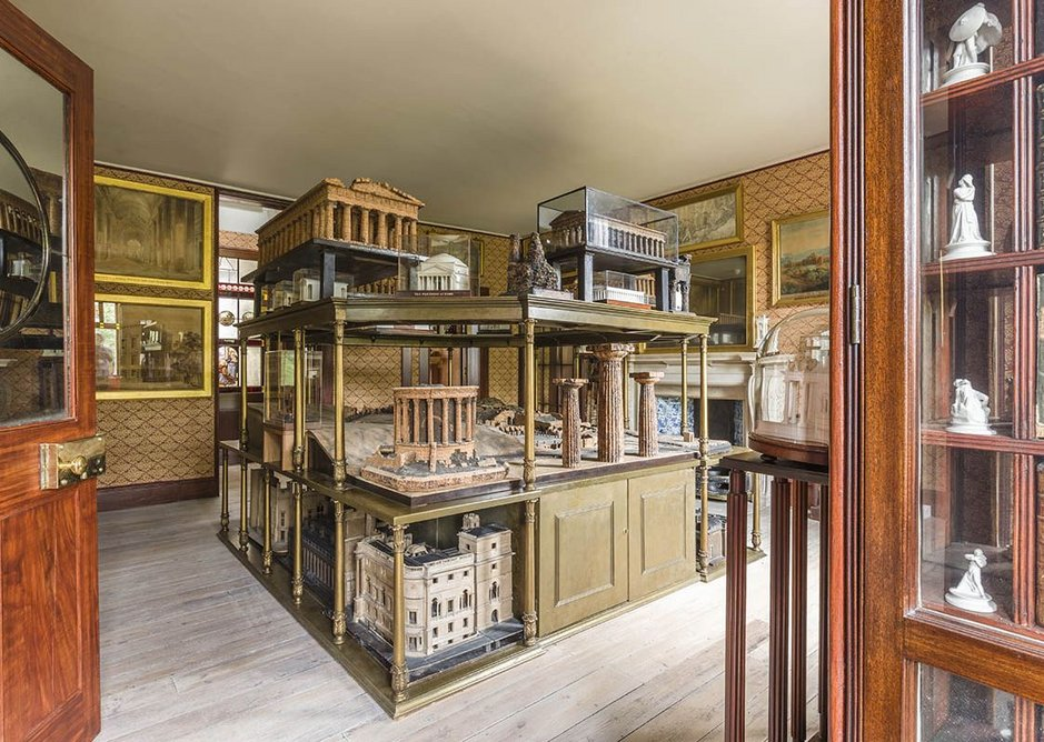 View of the model room, recreating a watercolour of the room by CJ Richardson c 1834-35.