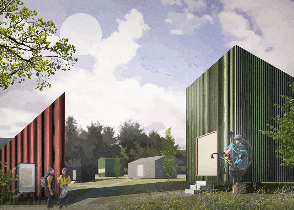 A specialist centre for a cycling fanatic client in Newton Mearns, south-west of Glasgow, proposes accommodation bothies for fellow obsessives to indulge in cycling holidays.