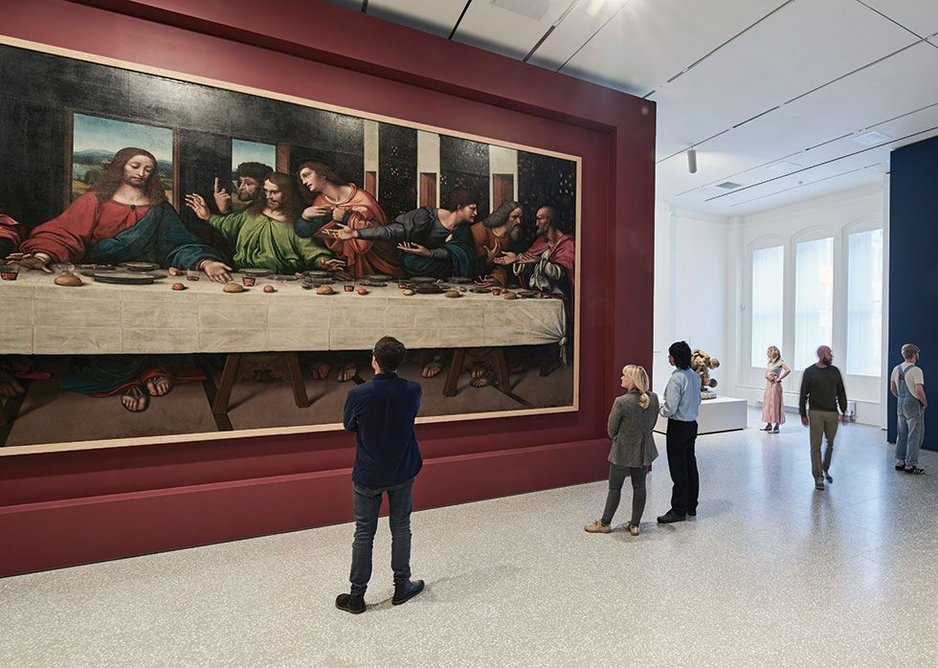 Early copy of Leonardo's Last Supper, hanging in the RA Collection Gallery.
