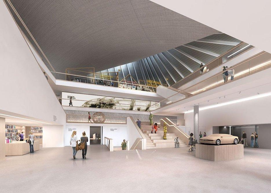 After the evisceration - the new Design Museum atrium.