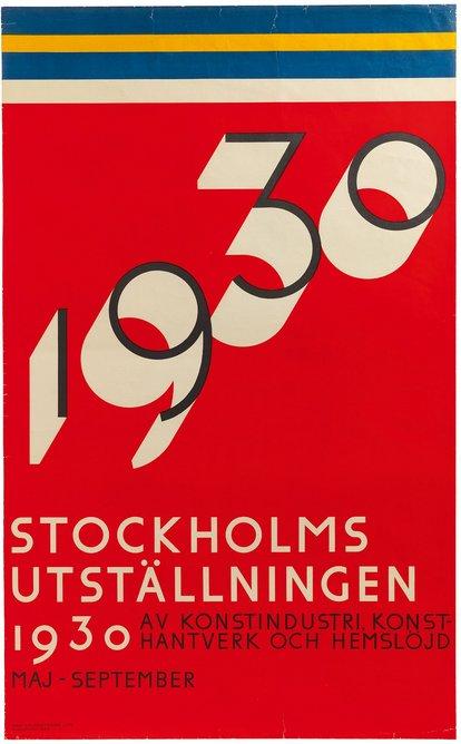 Exhibition poster, Stockholm Exhibition, 100 × 62 cm, ARKM.1973-05-11551.