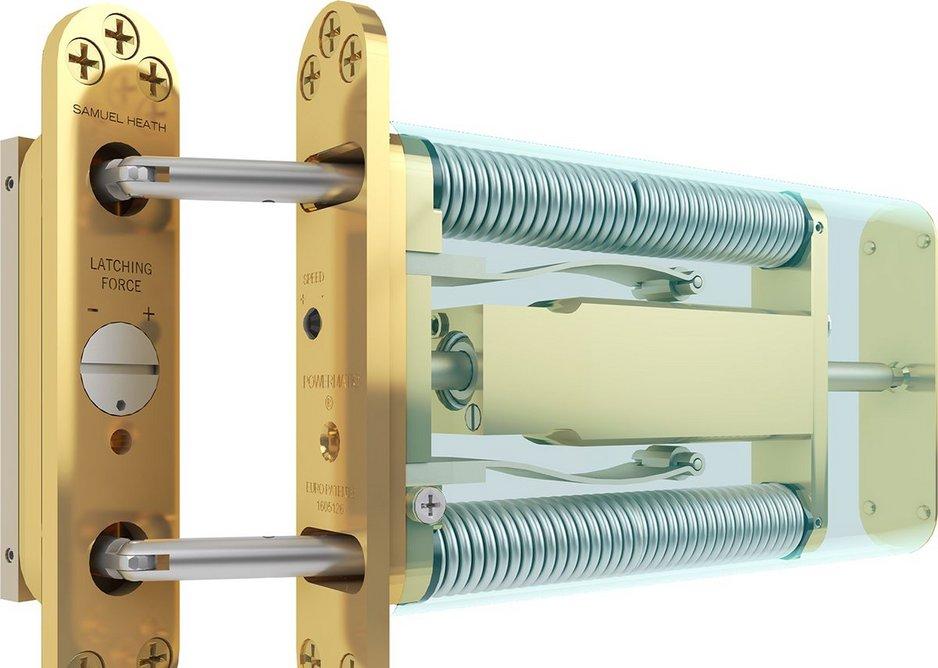 Samuel Heath's Powermatic R100 door closer.