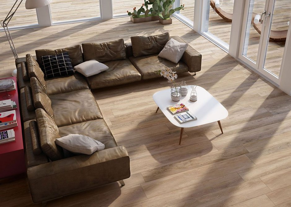 Timeless Interior 10mm porcelain plank format tiles are available in five sizes.