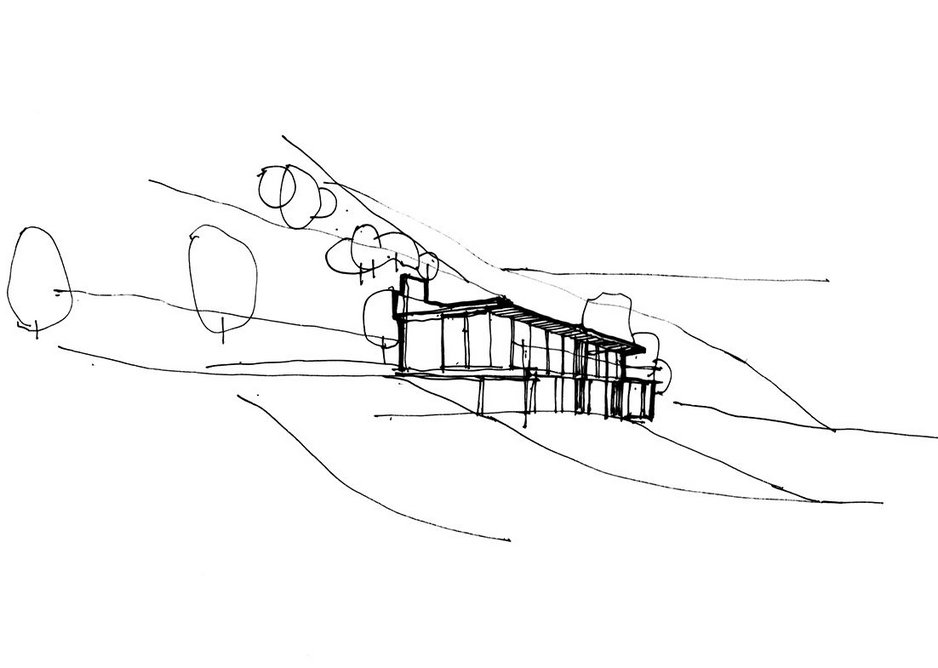 Concept by ArkleBoyce for Cuckoo Wood, a new self-build family home under construction at Wharfedale Valley, West Yorkshire.