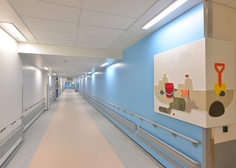 600 x 1200 Armstrong Bioguard Acoustic Board Tiles with Axiom Plasterboard to Tile Transition