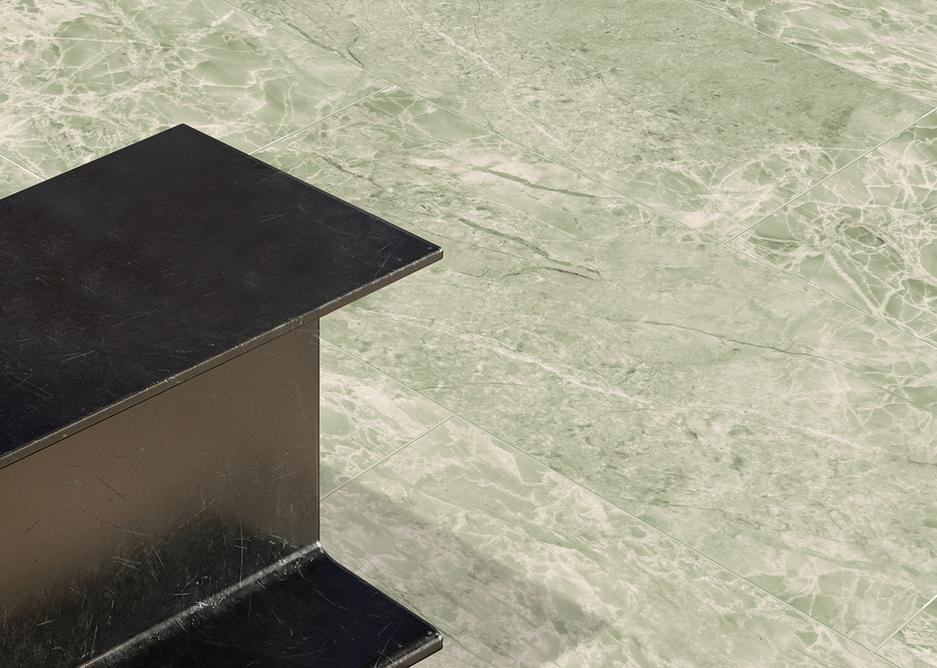 Tarkett iD Inspiration Emperador Green Naturals LVT flooring.