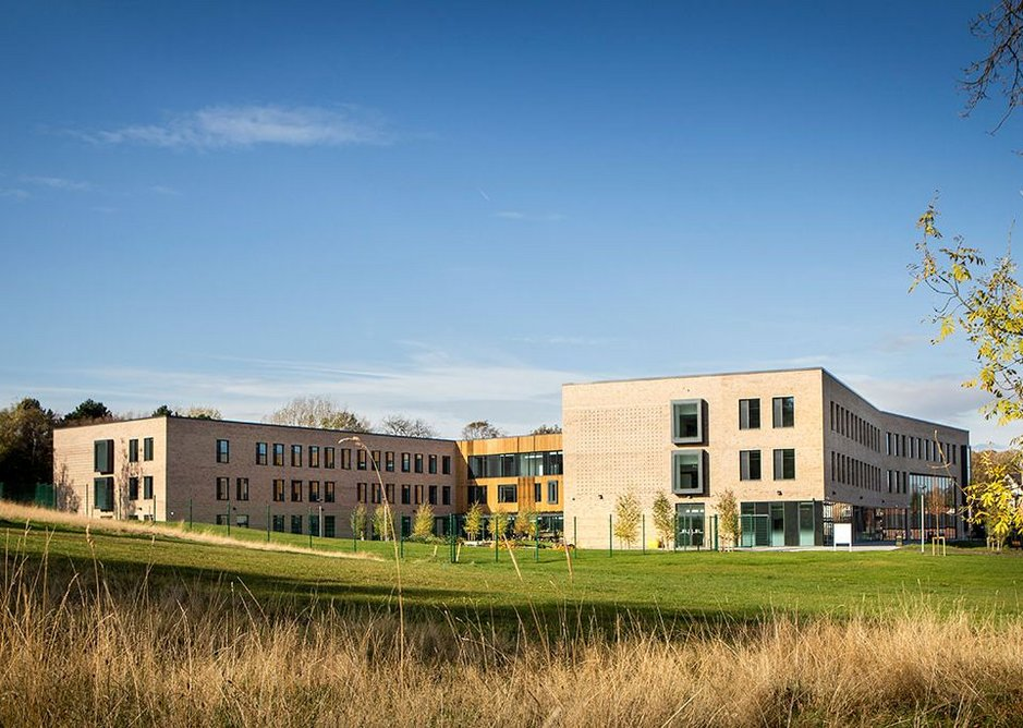 You would not know but the school is built on a former landfill site. Mercia School, Sheffield, Bond Bryan Architects, RIBA Regional Award 2019.