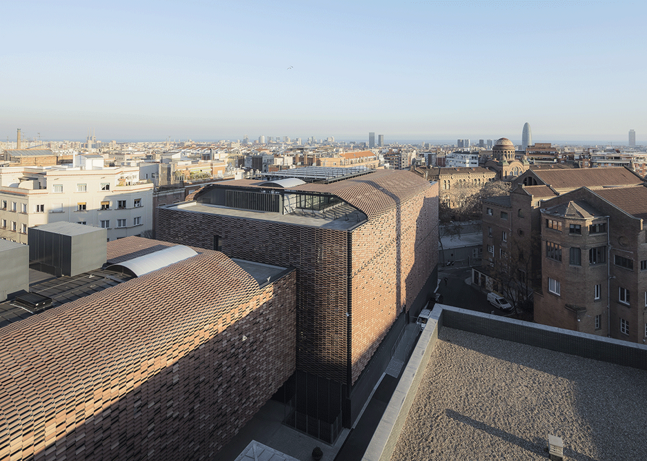 The Santa Creu and Sant Pau Hospital Research Centre in Barcelona by PICHarchitects and 2BMFG, winners of the Architecture category.