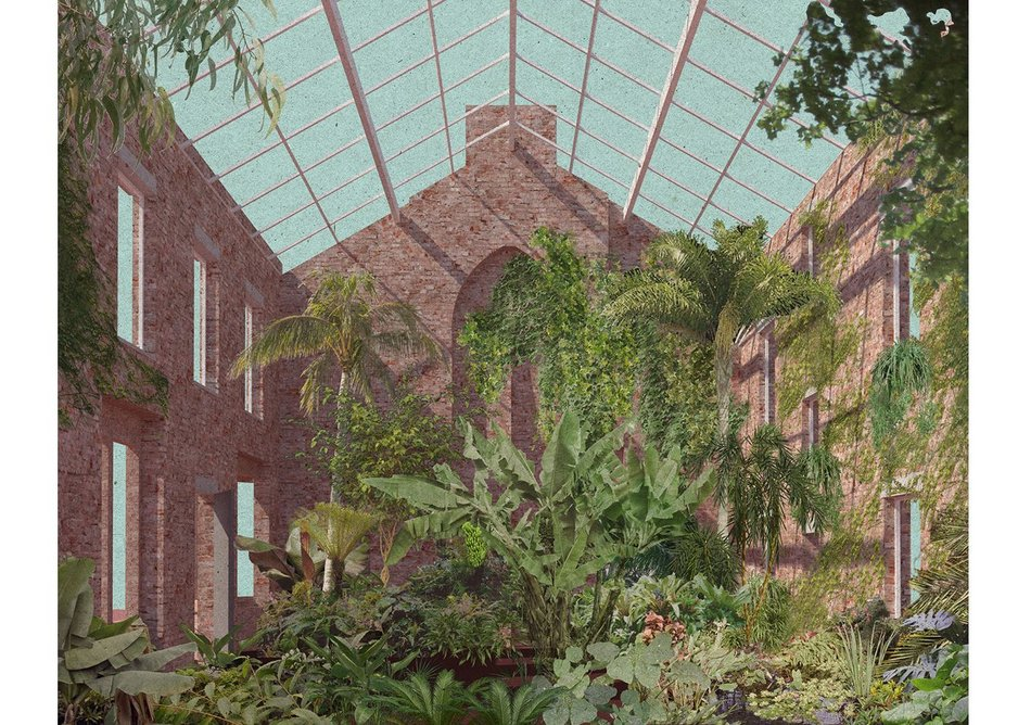 Ducie Street Greenhouse, part of the Granby Four Streets regeneration project in Toxteth, Liverpool.