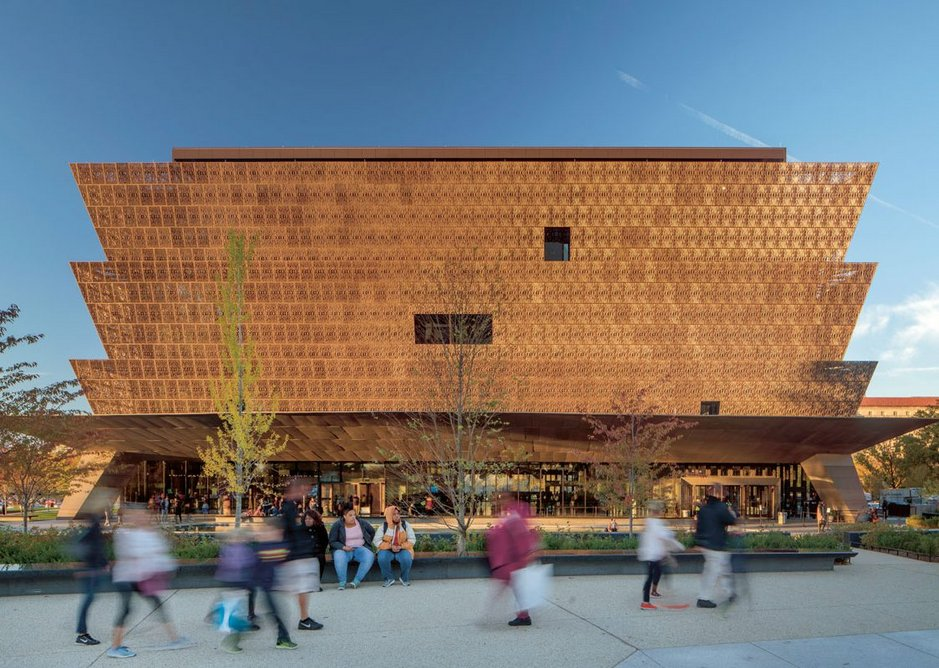 The Smithsonian National Museum of African American Arts and Culture was Adjaye's breakthrough project, political and high profile in the US heart of power in Washington DC, its Benin-inspired bronze corona disrupting the neoclassical institutions of the Mall.
