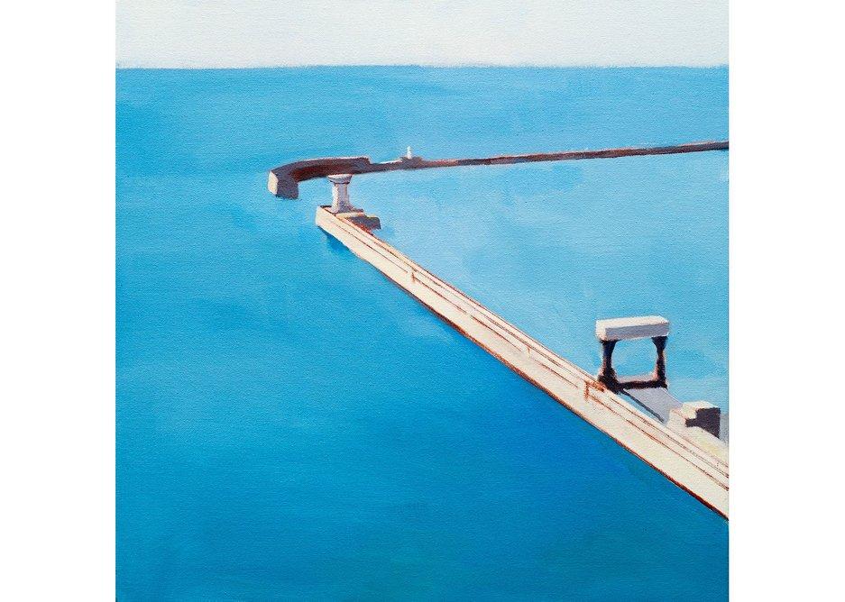 Port, Stephen Robson, 2013, oil on canvas, 50x50cms, courtesy of the artist.