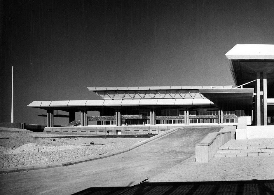 Hotel and Conference Centre, Riyadh, designed by Trevor Dannatt & Partners, 1974.