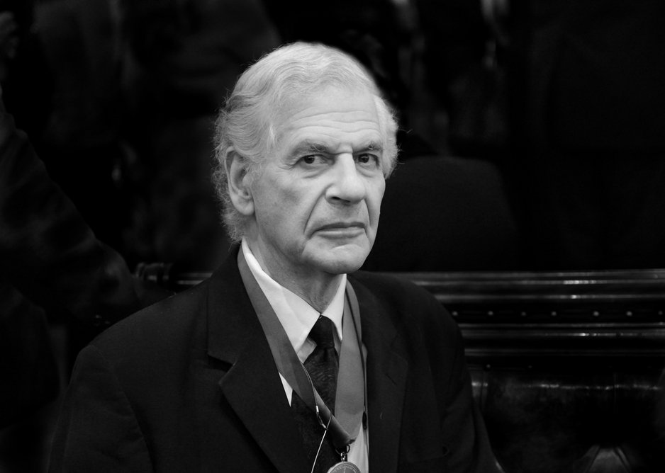 Koralek as Royal Academician in later life.
