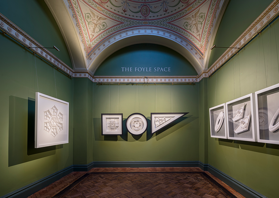 Installation view of Langlands & Bell - Degrees of Truth in the Foyle Space of Sir John Soane's Museum.