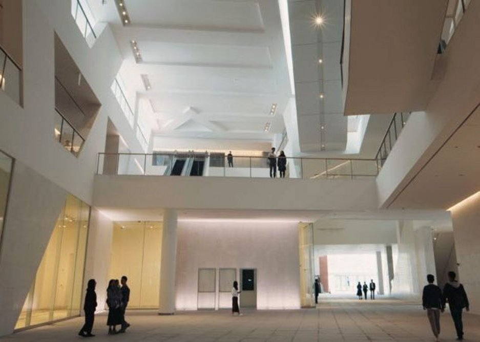 The atrium provides a further civic function.