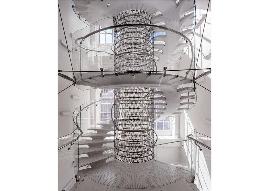 The Miles Stair, Somerset House, London, designed by Eva Jiřičná Architects, 2016.