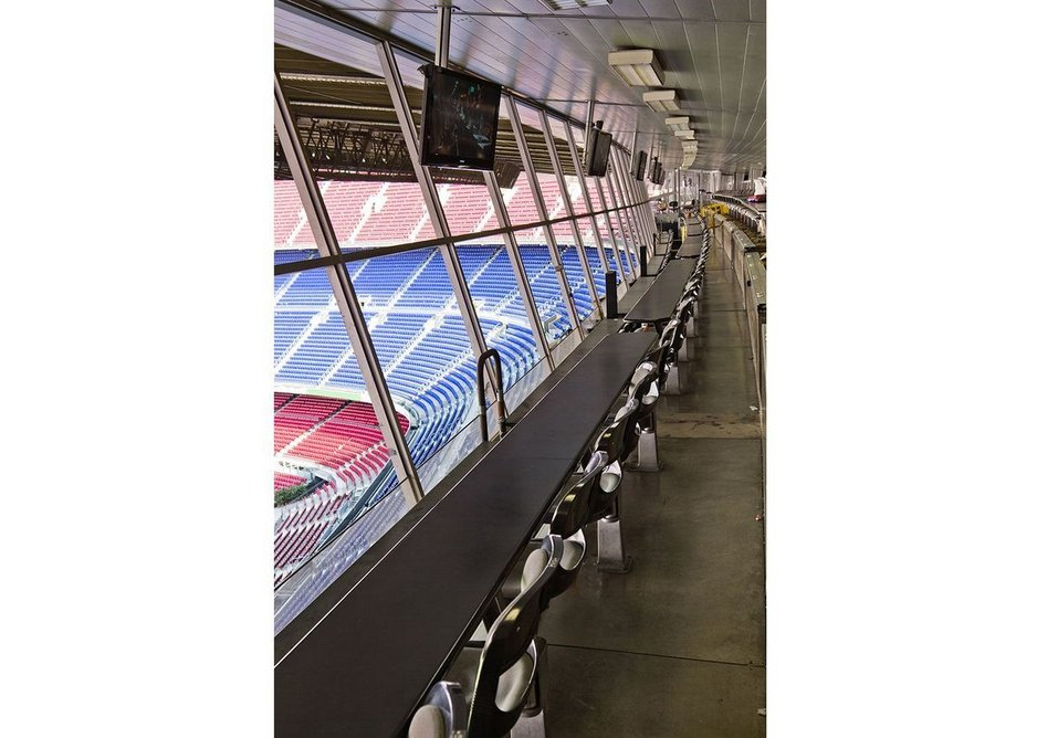 Guardian Clarity anti-reflective glass for stadium executive boxes