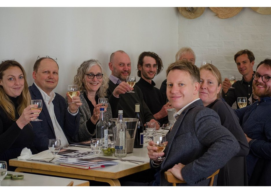 Winners, judges and RIBAJ editors assemble for the prizewinners' lunch, kindly sponsored by BDP.