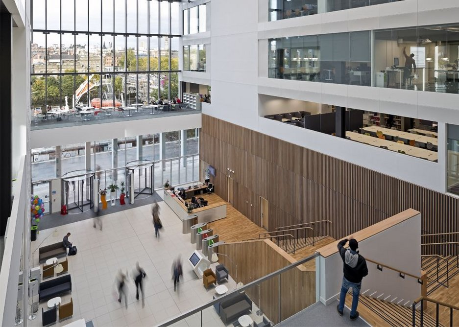 City of Glasgow College Riverside Campus by Michael Laird Architects and Reiach and Hall Architects.