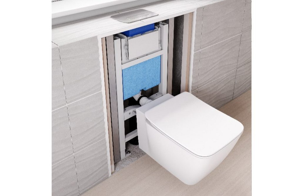 ProSys in-wall system with Strada II WC and Oleas M3 flush plate.