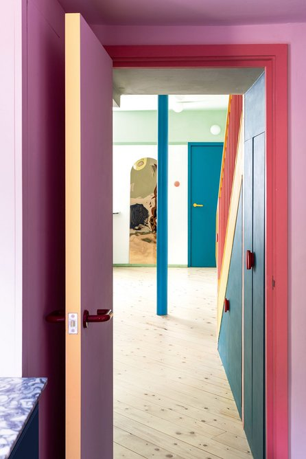Simple paint finishes allow for constant makeovers if desired.