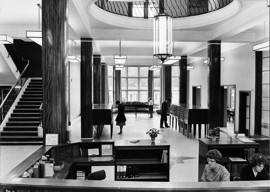 Not without a certain needless opulence': the original 1959 library had a  pre-war feel.