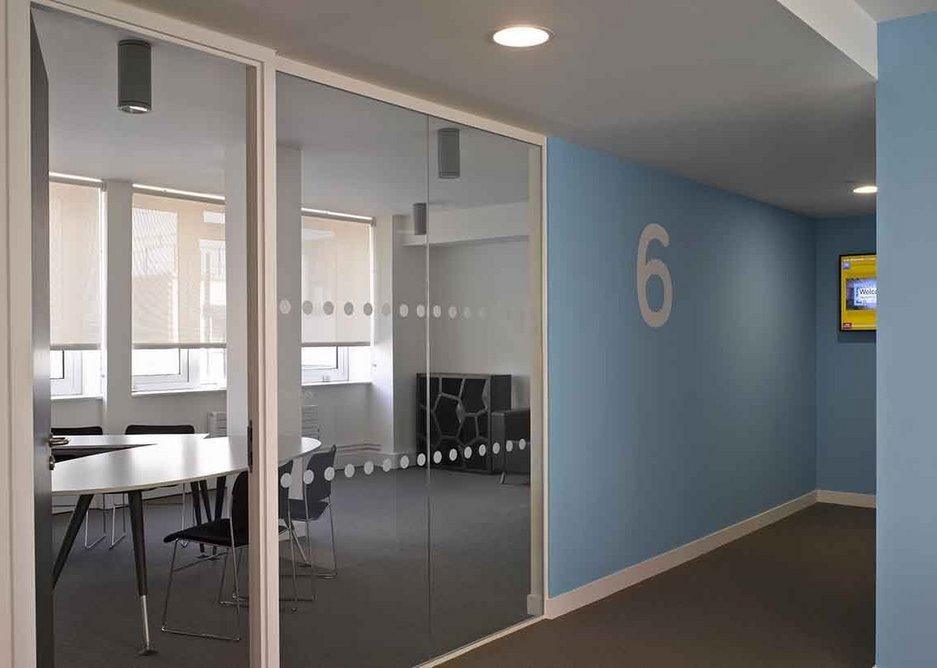 Meeting rooms and quiet room are on the top floor.