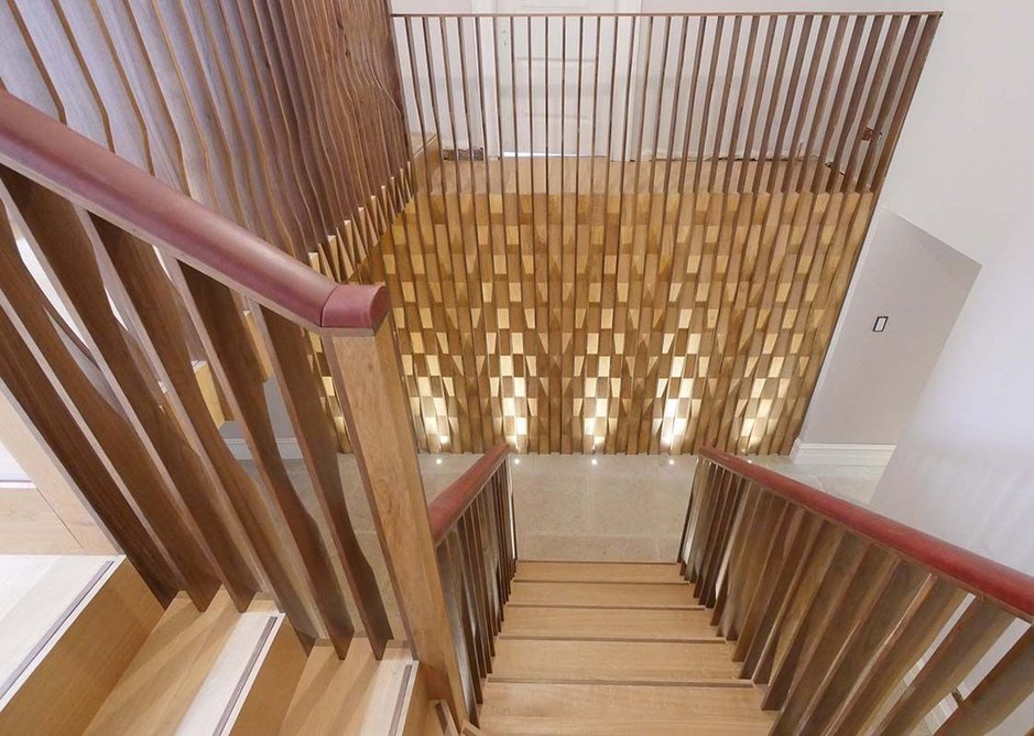 Interiors – Portledge rear staircase by Witcher Crawford architects and designers. A new stair in the medieval wing of Portledge House, Tiverton.