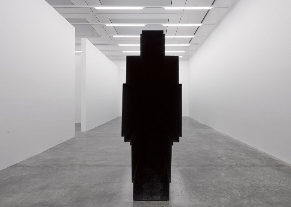 Fit exhibition installation, South Galleries, White Cube Bermondsey, with PASSAGE in the foreground.