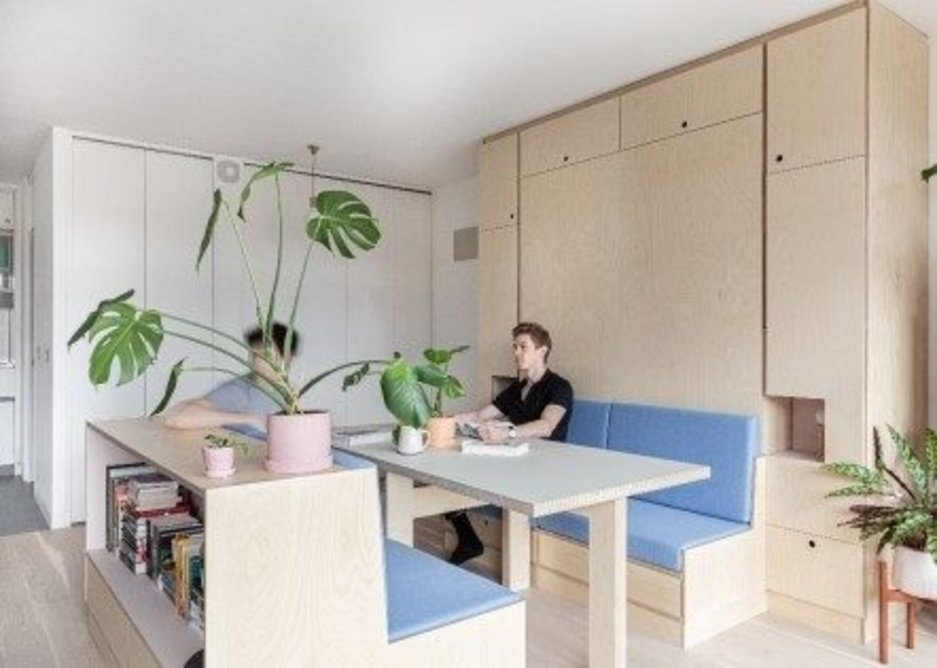 Intervention Architecture's interior fit out for Barbican Dancer's Studio.