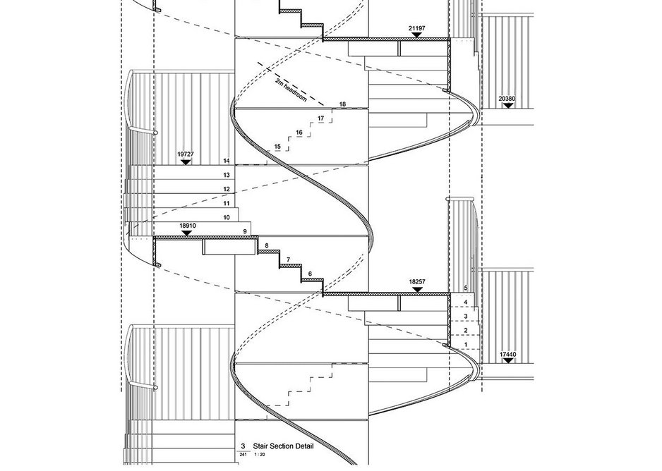 Stair section detail.